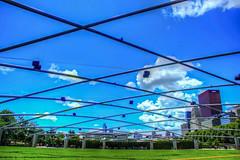 Grant Park (flickaway1) Tags: park blue summer sky lake chicago tower fountain skyline clouds canon buildings illinois warm day 5 michigan towers millennium canvas buckingham trump willis lightroom t3i photomatix