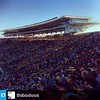 A repost of Memorial Stadium's sold out stands from the Golden Bears' tough game against 4th-ranked Ohio State. Yesterday's football final: Cal 34, Ohio State 52. #cal #ucberkeley #memorialstadium #gobears Photo reposted from @thibodoos.