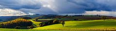 Last Sunrays (S.T.A.R.S) Tags: panorama licht laub herbst jahreszeit feld wiese himmel wolken kalt landschaft sonne kontrast bltter weite baum horizont nass sturm strahlen