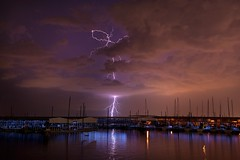Lightning (Mike Mezeul II Photography) Tags: lake color clouds texas lightning storms lewisville