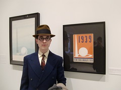 1930's Worlds Fairs Exhibit (Vintage car nut) Tags: new york city fashion museum vintage glasses 1930s 1940 tie style harold fair retro jacket lloyd worlds fedora 1939 menswear