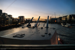 Sunset from the bridge of the HMS Belfast (Ennio Fratini) Tags: travel sunset england london atardecer unitedkingdom ships olympus viajes londres 2009 ef ennio e510 zd 1260mm