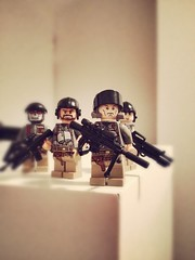 Squad. (Rogue_Predator) Tags: brick fire nice call shoot lego military duty ghost sniper mission squad custom spec m4 gi weapons ops m16 overview uploaded:by=flickrmobile denimfilter flickriosapp:filter=denim