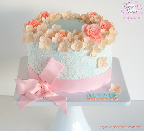 Shabby Chic Sweet 16 Cake