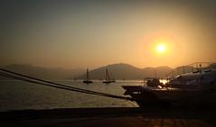 Perfect end of the season (VillaRhapsody) Tags: sunset sea ferry marina boats coast jetty aegean marmaris challengeyouwinner