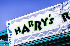 Harry's Roadhouse (Mabry Campbell) Tags: winter usa newmexico santafe sign photography restaurant us photo december photographer image unitedstatesofamerica photograph nm fineartphotography restaurantsign harrysroadhouse architecturalphotography commercialphotography fav10 2013 architecturephotography unitedtates houstonphotographer storefrontsign mabrycampbell