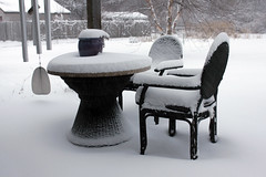 The View from the Patio 01052013 (Orange Barn) Tags: winter snow cold snowstorm winterweather peoriaillinois