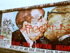 The Kiss 46/365 (TheNomadicLondoner) Tags: streetart berlin graffiti communism berlinwall eastsidegallery leonidbrezhnev erichhonecker project365 dmitrivrubel mygodhelpmetosurvivethisdeadlylove