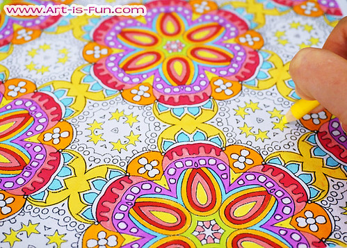 Abstract Patterns Coloring Page By Thaneeya McArdle