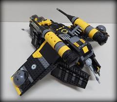 Yellow Black Gunship Back (Johnny-boi) Tags: shadow cinema trooper yellow battle palace walker legos custom legostarwars hoth gunship minifigure atap
