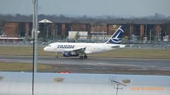 P1190364 YR-ASB A318-111 at London Heathrow Airport (LJ61 GXN (was LK60 HPJ)) Tags: lhr egll tarom 2955 27r londonheathrowairport a318111 airbusa318 yrasb dauae ro391 rot391 tarom391