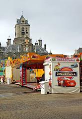 Netherlands-4584B - Market Square (archer10 (Dennis) (66M Views)) Tags: holland bird church netherlands canal gate tour sony trafalgar free fair delft dennis jarvis iamcanadian freepicture dennisjarvis archer10 dennisgjarvis nex7 18200diiiivc