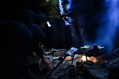 BoscoTetro_0119.jpg (Z A N A) Tags: wood camping winter cold night fire nikon fireplace tent meat grill hood ananas 2014 icecold d3100