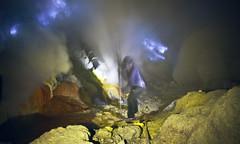 Sulfur mining at Kawah Ijen volcano, Java (Indonesia) (Nikodijevic) Tags: yellow work indonesia lava smoke labour dig vulcano miners nikola nikodijevic nikolanikodijevic nikodijevicnikola
