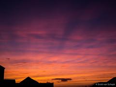 Winter sunset. (scottvs91) Tags: uk winter sunset sky orange cloud sun sunlight west colour beautiful beauty silhouette clouds buildings lumix scotland edinburgh colours purple dusk dream panasonic dreamy colourful g3 westend m43 mft micro43 microfourthirds panasonic1442mmf3556 lumixg3 panasoniclumixg3 panasonicg3 {vision}:{sunset}=0813 {vision}:{clouds}=099 {vision}:{car}=0543 {vision}:{sky}=099 {vision}:{outdoor}=0873