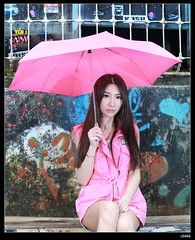 nEO_IMG_DP1U0042 (c0466art) Tags: light red portrait beauty face rain ava wall female canon painting nose eyes funny asia pretty day outdoor quality picture cloth 1dx colorfulo c0466art