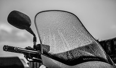 Water drops and wind shields. (CWhatPhotos) Tags: canon 7d eos 60mm prime ef photographs photograph pics pictures pic picture image images foto fotos photography artistic cwhatphotos that have which with contain taken maxi scooter honda fjs scoot silver wing silverwing 600 fjs600 motor jap big large rain water drops droplets wind shield sky skies dark shadow silhouetted silhouette silhouettes wet flickr