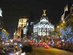 Madrid in Christmas, Spain, December 2012