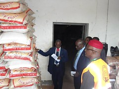 Inspections of the relief materials by NEMASEMA team