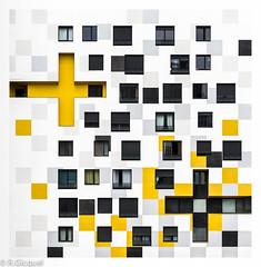 Faade #1 (Nanterre) (renan4) Tags: paris building modern facade nikon nanterre graphic renan d800 70200mmf4 gicquel renan4