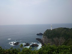 展望台より足摺岬灯台を望む