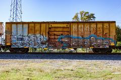 (o texano) Tags: houston texas graffiti trains freights bench benching boise cbs