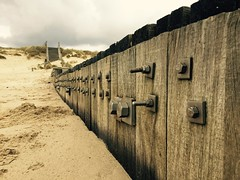 Groyne at the beach. (wholestonestudios) Tags: groyne seadefences beach sand sea