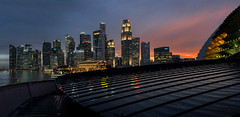 s 2016 30Sep_Sunset after the rainbows_Panorama1 (Andrew JK Tan) Tags: dusk singapore sunset bluehour rain wet cityscape skyline outdoor buildings