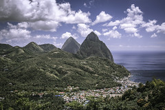 Soufriere and the Pitons , St.Lucia