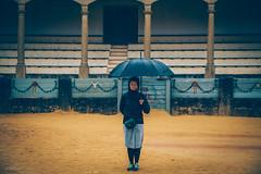Torero (mn_fotomusic) Tags: torero arena bullfighting stadion portrait portraiture umbrella rain spain ronda yellow andalucia green canon 6d vsco lightroom visitspain