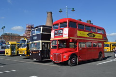 Bournemouth 103 CRU103C - Stephensons 14 UVT14X - Turners 10 JBF169N - London Transport RM467 WLT467 (Will Swain) Tags: gladstone pottery museum first adderley green open running day potteries 18th september 2016 bus buses transport travel uk britain vehicle vehicles county country england english preserved heritage london rm467 wlt467 routemaster bournemouth 103 cru103c stephensons 14 uvt14x turners 10 jbf169n