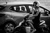 Portrait de rue#11-----------Regard noir ! (Olivier DESMET) Tags: olivierdesmet noirblanc nb blackandwhite bw monochrome candid lesgens street streetphoto photosderue canon eos 6d tamron sp70300 70300vcusd