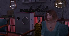 Just me and the music. (angeleise) Tags: secondlife vinylclothingstore justme