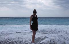 Nice, Cte d'Azur, France (Olivija_Owl) Tags: 2016 nice france sea blue me girl summer legs black blackdress sky sumeertime women