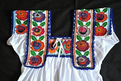 Mexican Embroidered Blouse Chatino (Teyacapan) Tags: blusas blouses oaxacan mexican nopala chatino bordado flowers flores crossstitch clothing ropa