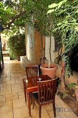 Emptiness (Aram Somoundji) Tags: lebanon beirut downtown paul caf trees chairs table