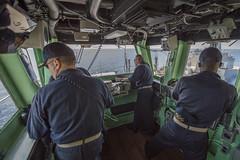 161024-N-JS726-035 (SurfaceWarriors) Tags: navy marines amphibiousassault southchinasea bonhommerichard expeditionarystrikegroup underway deployment military replenishmentatsea ras navigation