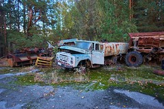 Vehicle Dump-(Chernobyl Exclusion Zone)_15 (Landie_Man) Tags: none vehicle car truck van tank minesweeper lorry radioactive radiation clean up liquidator liquidation chernobyl heros heroes pripyat scrap scrapped junk dumped transport transportation the zone exclusion ussr ccp cccp soviet union ukraine metal harvesting trash dead looted