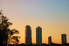 Sun shining all over the buildings (Yalila Guiselle) Tags: miami sunset buildings brickell