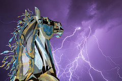 Rolling Thunder (J.T. Dudrow Photography) Tags: grandjunction colorado horse bronco lightning weather stallion