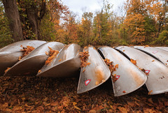 Autumn Canoes (Dalliance with Light (Andy Farmer)) Tags: autumn landscape nj trees princeton drcanal leaves fall canoes intimatelandscape newjersey unitedstates us
