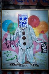 Who's The Clown? (Jeremy Brooks) Tags: california clown graffiti missiondistrict photowalk photowalking sanfrancisco sanfranciscocounty streetart themission usa urbanart wereonamission ca unitedstates