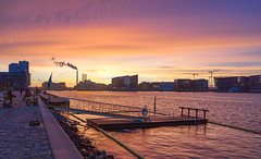 December Sunset (Ghita Katz Olsen) Tags: sunset islandsbrygge copenhagen harbour harbor jetty
