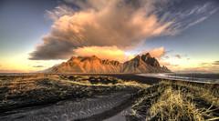 Dawn at Vesturhorn (Nick L) Tags: vestrahorn vesturhorn brunnhorn stokksnes dawn clouds landscape 1124l eos canon 5d 5d3 canon5dmark3 canon5d3 blacksand sand dunes wow canonef1124f4l