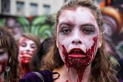 Bloodlust (Silver Machine) Tags: bristol bristolzombiewalk2016 zombie girl blood streetphotography street streetportrait fujifilm fujifilmxt10 fujinonxf35mmf2rwr streetparade outdoor