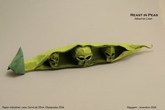 Rest in Peas (Papygami) Tags: origami pliage de papier papiroflexia olympiades 2016 papygami reast peas pois ogm sébastien limet
