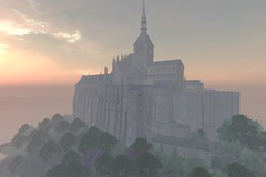 Mont Saint Michel is Back!! (ErikoLeo) Tags: flickrlovers landscape firestorm secondlife secondlife:region=montsaintmichelsecondlifeparceledelweisslemontsaintmichelsecondlifex100secondlifey190secondlifez91