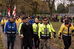 20161111_0050_1 (Bruce McPherson) Tags: brucemcphersonphotography remembranceday southmemorialpark southmemorialparkcenotaph cenotaph vancouverpolice vpd cadets marchpast march marching autumn fall fallleaves memorial vancouver bc canada