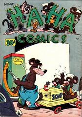 Ha Ha 40 (Michael Vance1) Tags: comics comicbooks cartoonist art artist anthology funnyanimals fantasy funny goldenage