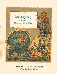 1922-11-30-Thanksgiving Menu-Company F-1 (Old Guard Museum) Tags: 1922 companyf fortsnelling menu thanksgiving